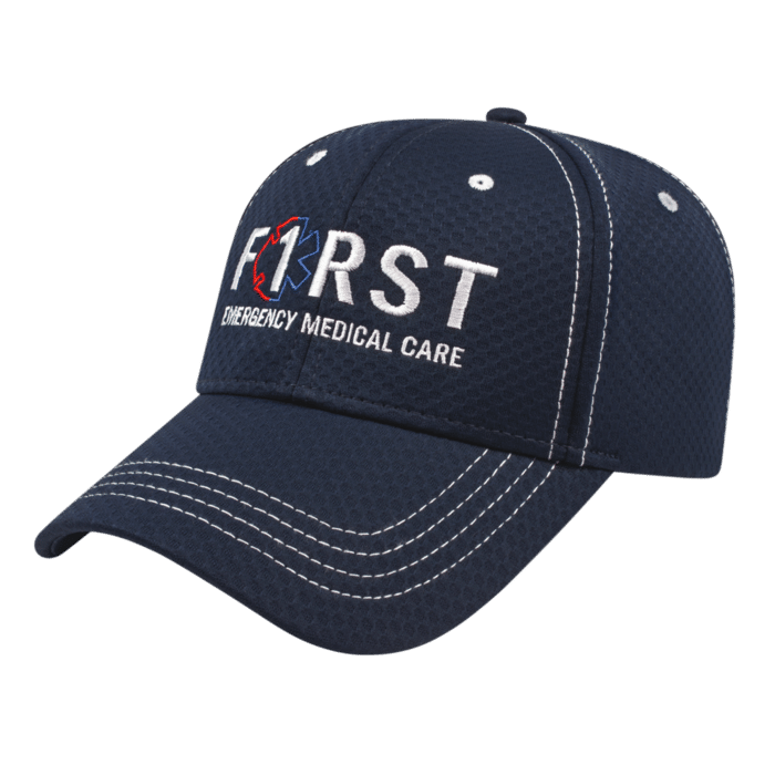 Athletic Series Soft Textured Polyester Mesh Cap