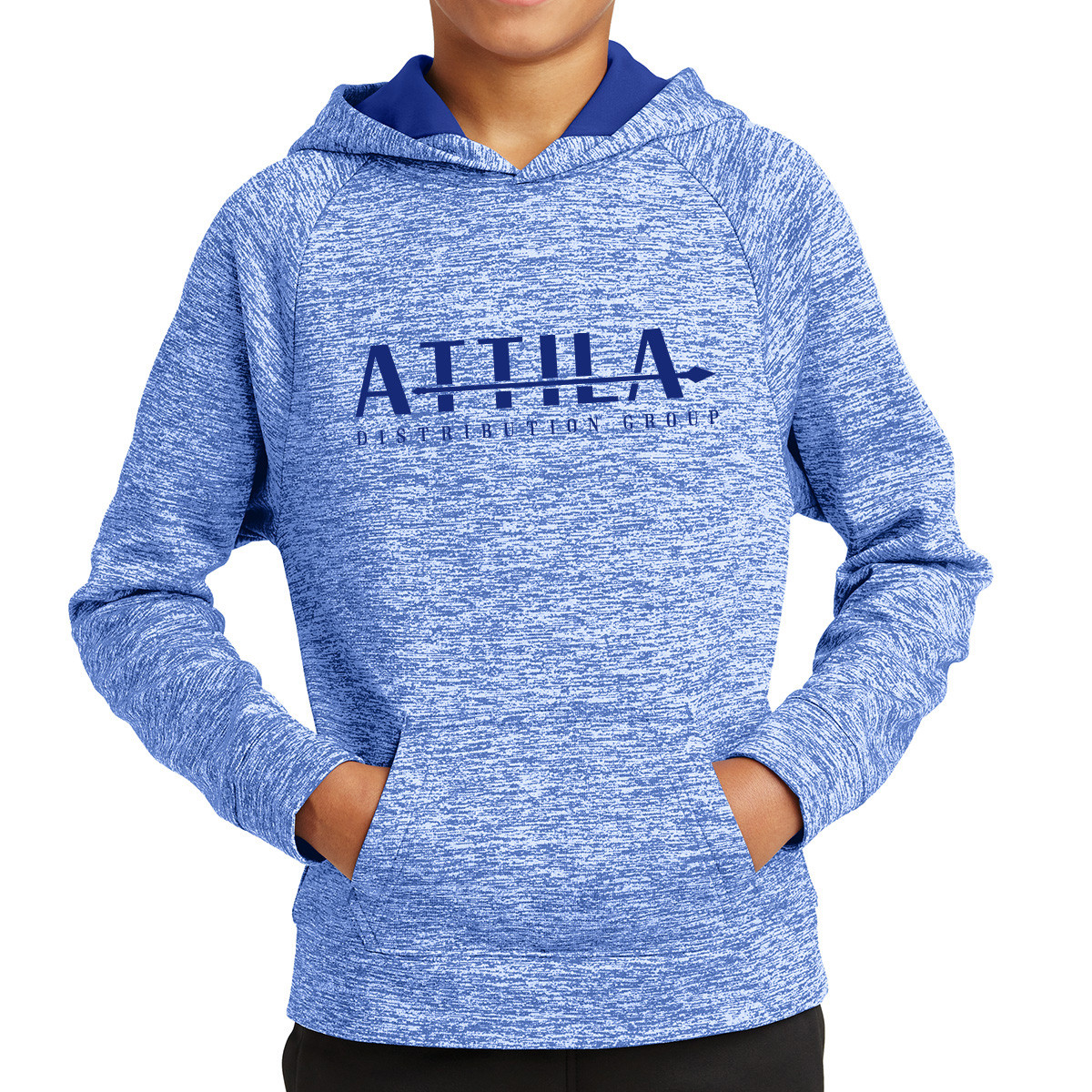 Sport-Tek ® Youth PosiCharge ® Electric Heather Fleece Hooded Pullover