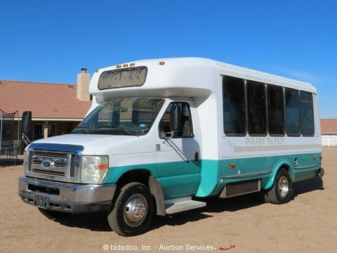 2008 Ford Econoline E450 CNG Luggage Passenger Bus Transport 6.8L for Parts/Repair for sale