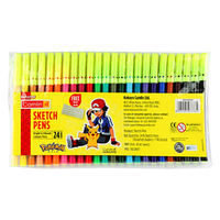 Camlin Sketch Pens 12 Shades with Stencil Image