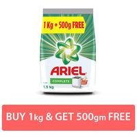Ariel Complete Detergent Washing Powder 1.5 kg Saver Pack Image