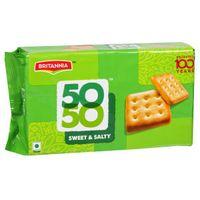 Britannia 50-50 Sweet & Salty Biscuits Image