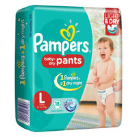 Pampers Baby-Dry Pants Large Diapers Image