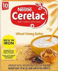 Nestle Cerelac Stg 3 Wheat Honey Dates cereal Image