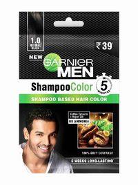Garnier Men Shampoo Color - 1.0 Natural Black Image