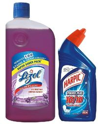 Lizol Lavender Disinfectant Surface Cleaner with (Free Harpic 200ml) Image