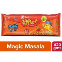 Sunfeast Yippee Magic MASALA 6 in 1 pack free yippee saucy masala single pack Image