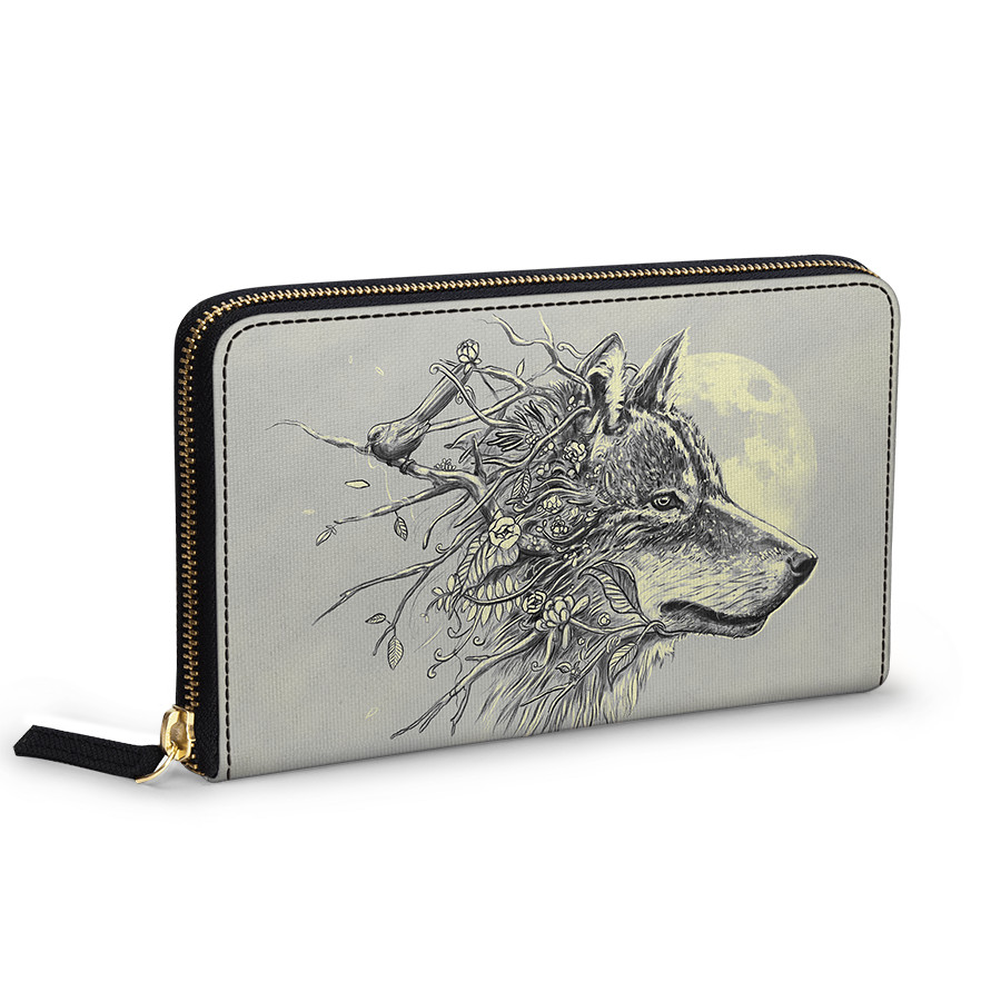 875766a5852a DailyObjects Gray Wolf Women's Classic Wallet Buy Online in India ...