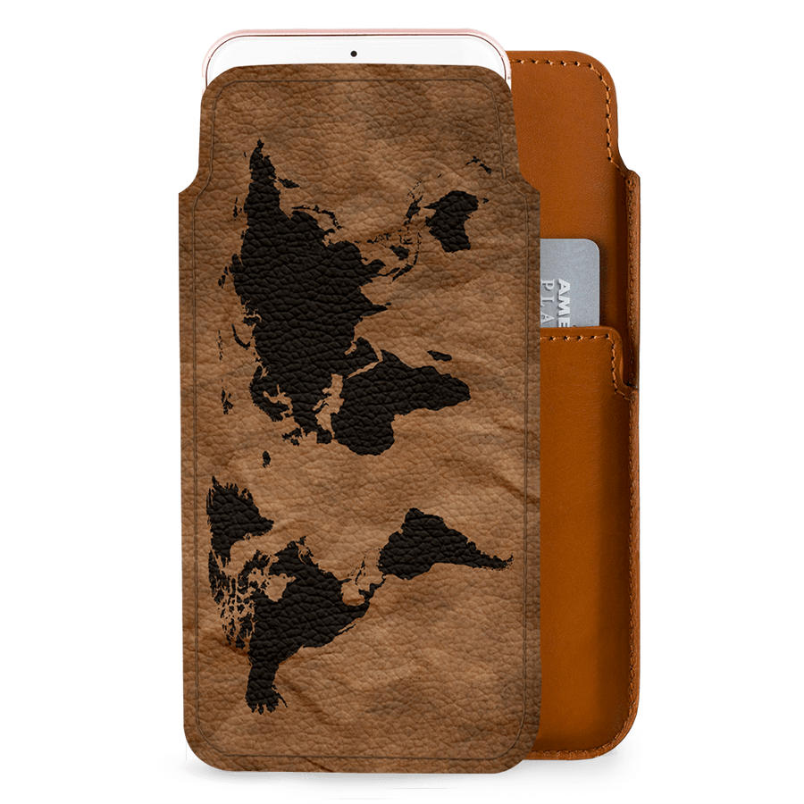 Dailyobjects wrinkled world map real leather wallet case cover for dailyobjects wrinkled world map real leather wallet case cover for iphone 8 plus gumiabroncs Gallery