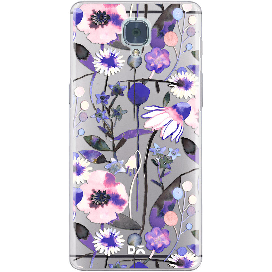 Dailyobjects Spring Flowers Yellow Clear Case Cover For Oneplus 3t