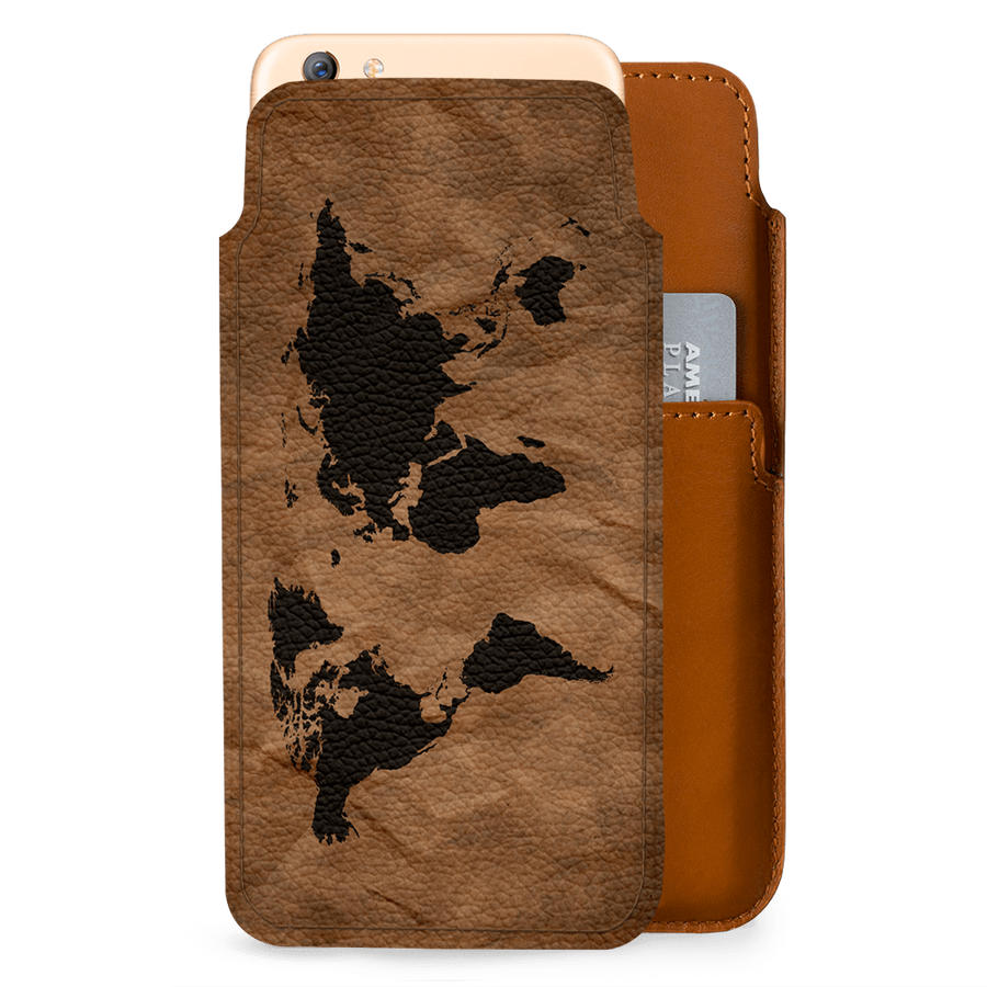 Dailyobjects wrinkled world map real leather wallet case cover for dailyobjects wrinkled world map real leather wallet case cover for oppo f3 plus gumiabroncs Images