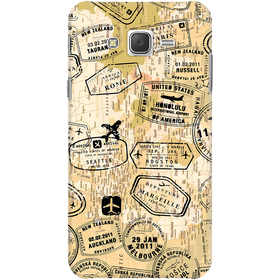 Dailyobjects Stamps And Maps Sepia Case For Samsung Galaxy J7 Buy Htc Desire C Circuit Diagram