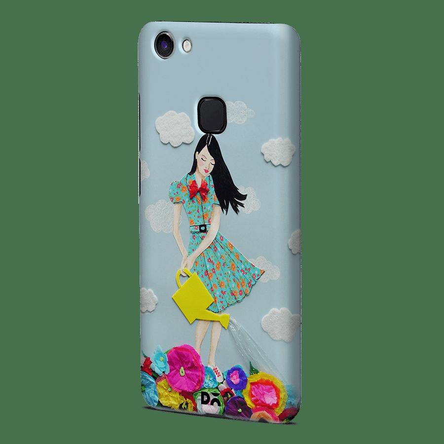 DailyObjects Girl In Flowerland Case Cover For Vivo V7 Plus