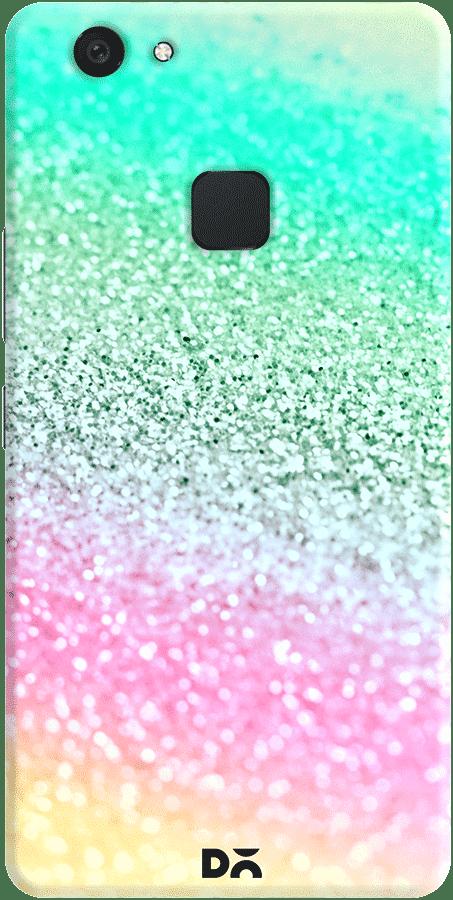 DailyObjects Unicorn Rainbow Glitter Case Cover For Vivo V7