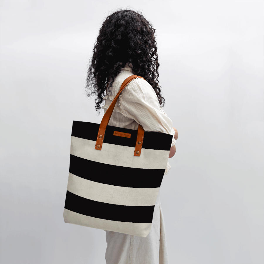 719a84c7dfe2 DailyObjects Vintage Black Stripes Classic Tote Bag Buy Online in India -  DailyObjects