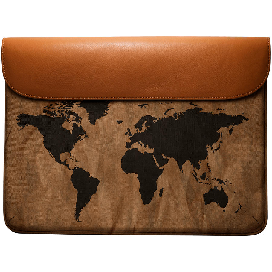 Dailyobjects wrinkled world map real leather envelope sleeve for dailyobjects wrinkled world map real leather envelope sleeve for macbook pro 13 gumiabroncs Images