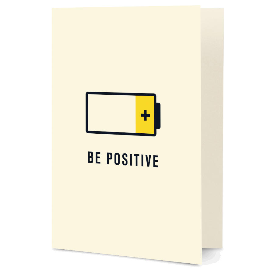 e083956e58c74 DailyObjects Be Positive Pun A5 Greeting Card