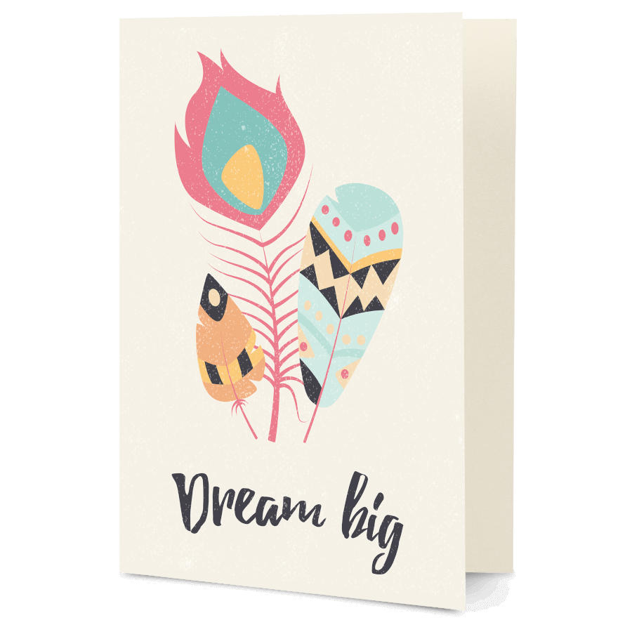 Dailyobjects Feathers 31 A5 Greeting Card Buy Online In India