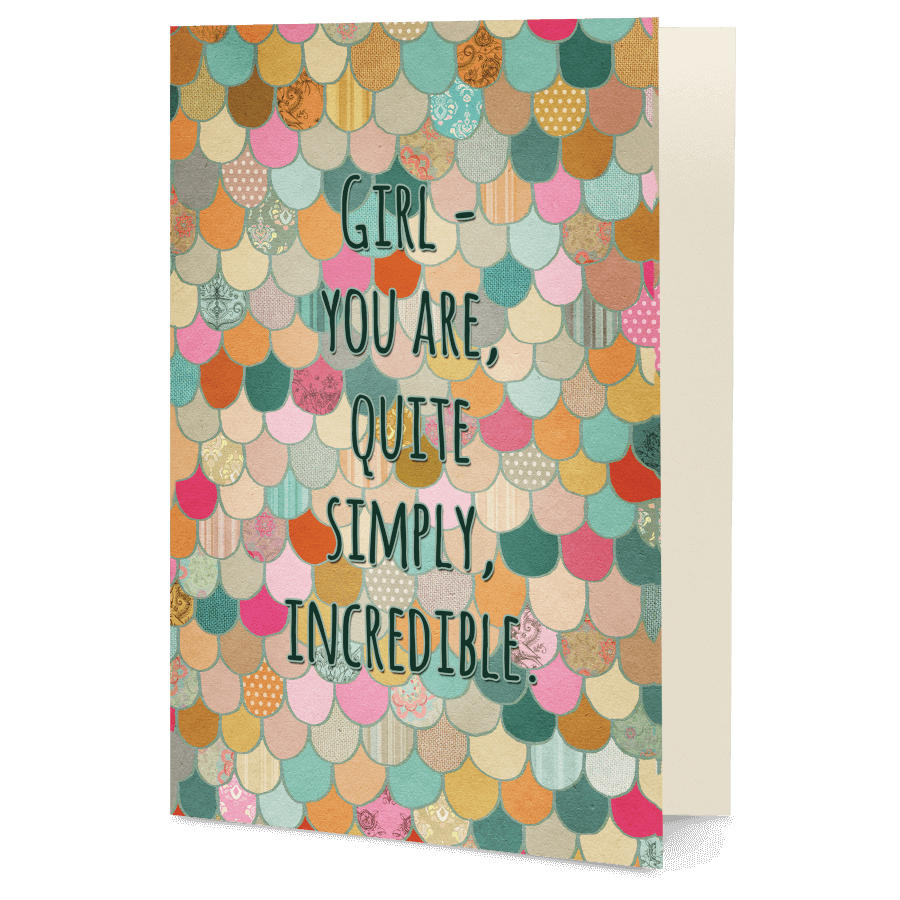 Dailyobjects Girl You Are Quite Simply Incredible A5 Greeting Card