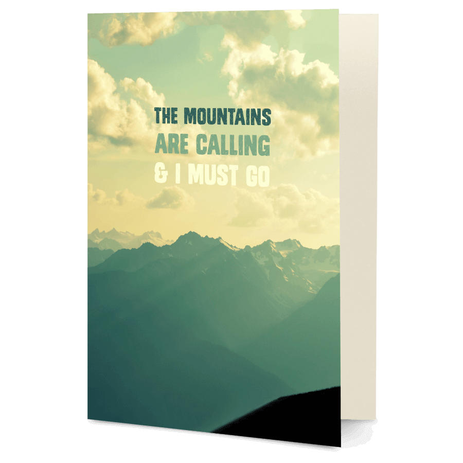 Dailyobjects The Mountains A6 Greeting Card Buy Online In India