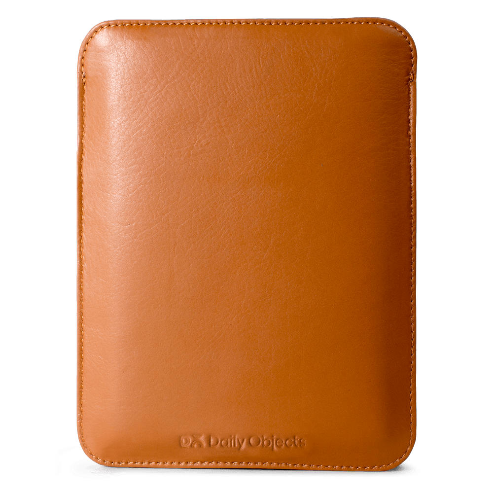 huge discount 17dcd 0ac77 DailyObjects Tan Real Leather & Felt Sleeve Case Cover For Amazon ...
