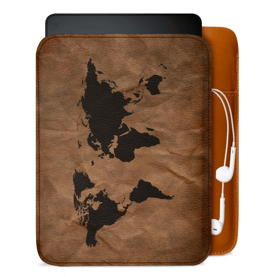 Dailyobjects wrinkled world map real leather sleeve case cover for dailyobjects wrinkled world map real leather sleeve case cover for amazon kindle voyage gumiabroncs Gallery