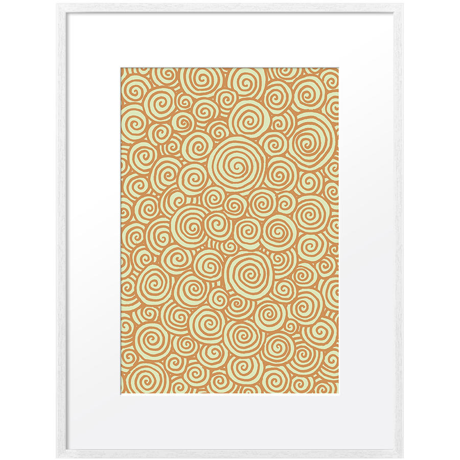 DailyObjects Doodle Spirals Small Wall Art Framed White-Small - Buy ...