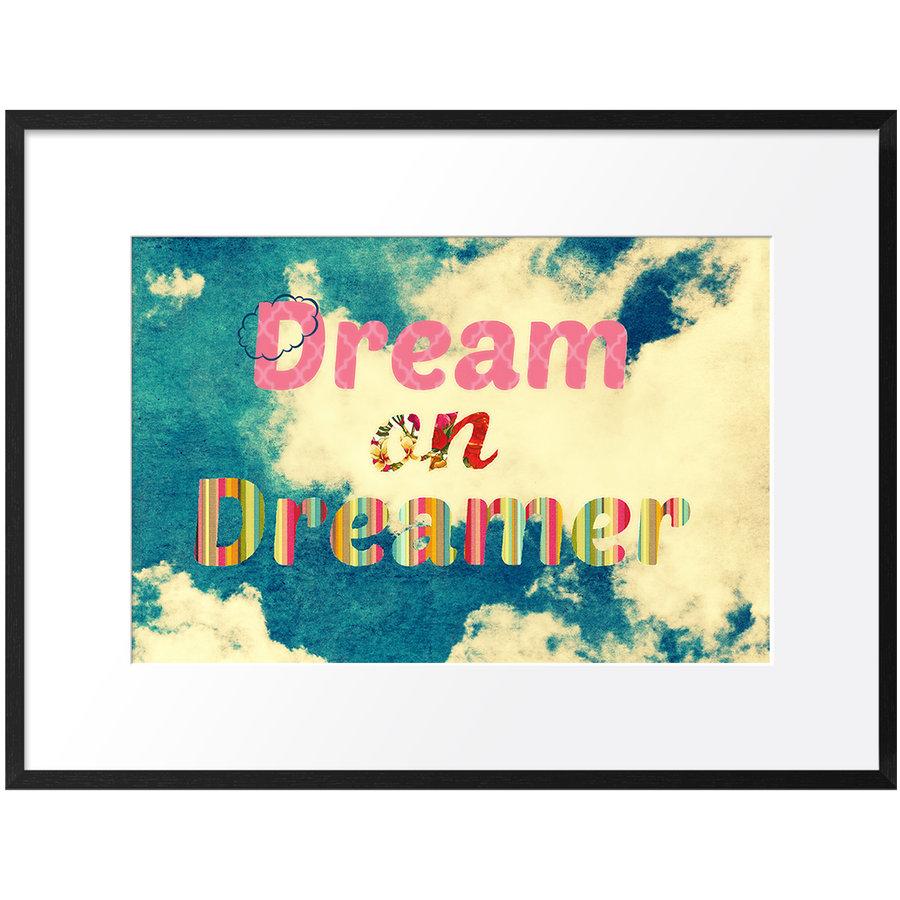 DailyObjects Dream On Dreamer Small Wall Art Framed Black-Small Buy ...