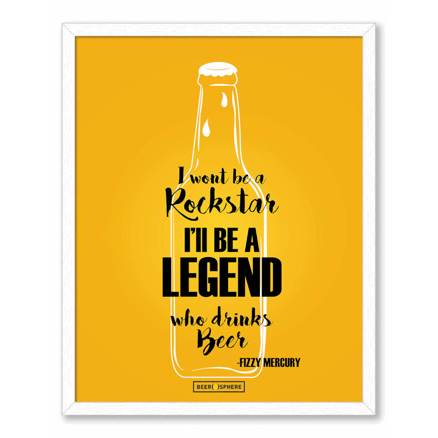 DailyObjects Legends of Beer Framed Wall Art White-Large Buy Online ...