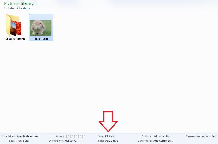 Cara mengubah ukuran foto menjadi 100kb secara offline