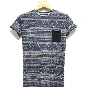 Aztec Printed Tee With Pocket