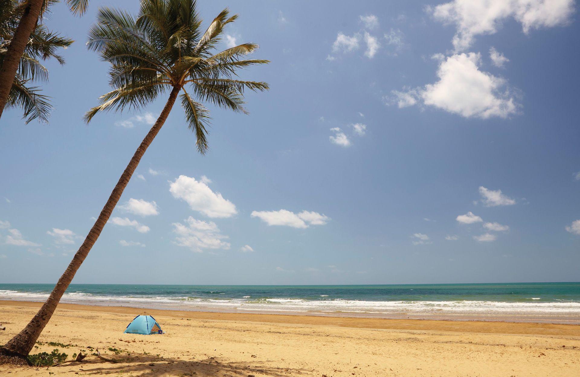 Het strand van Airlie Beach is heerlijk om te relaxen aan de Oostkust van Australië.