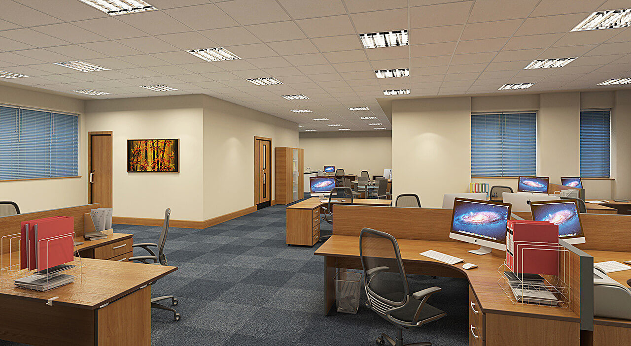 Commercial office internal renders