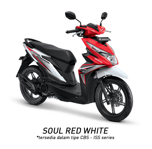 Honda BeAT eSP Soul Red White