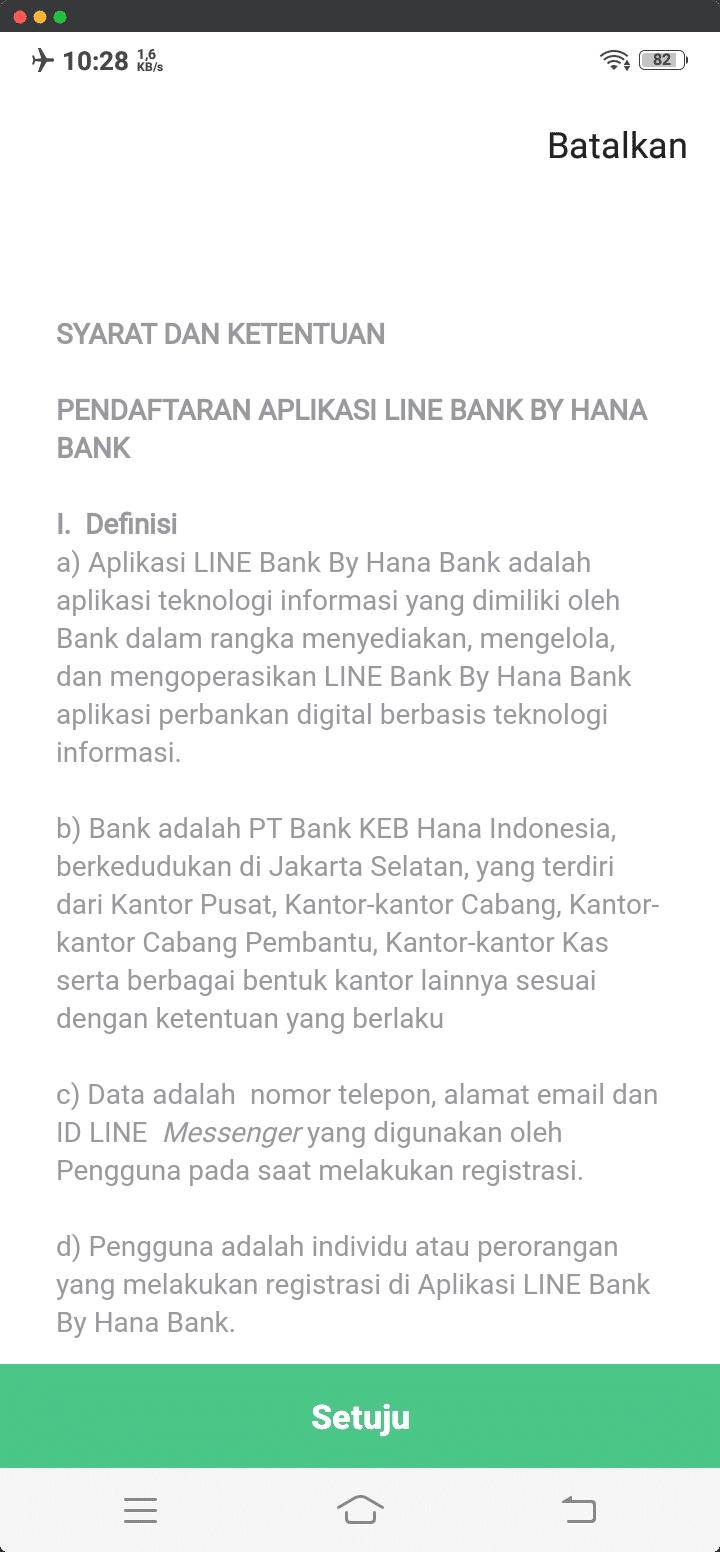 Syarat dan Ketentuan LINE Bank