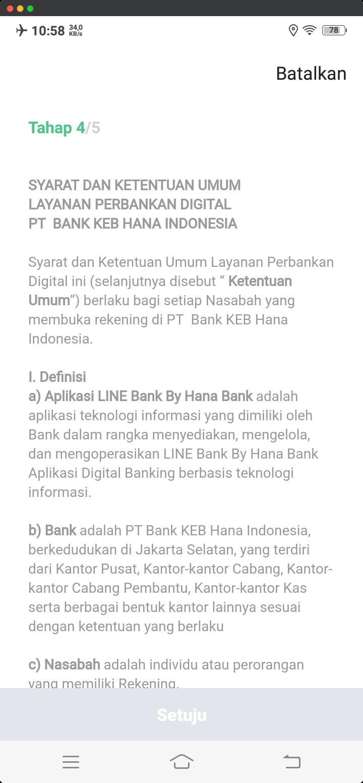 Syarat dan Ketentuan Umum Layanan Perbankan Digital PT Bank KEB Hana Indonesia