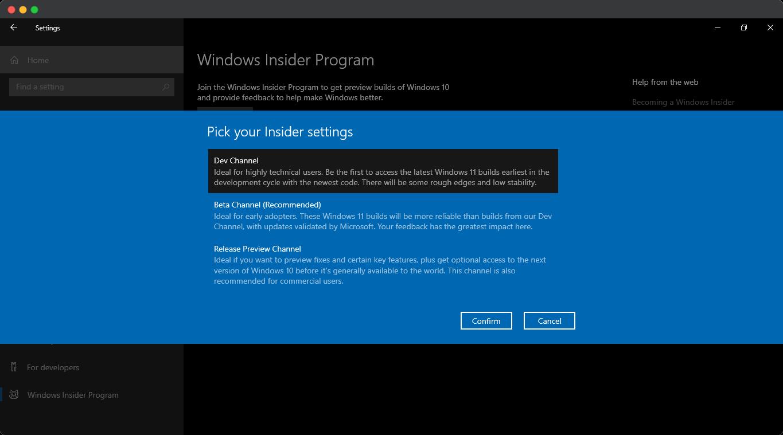 Windows Insider Channel
