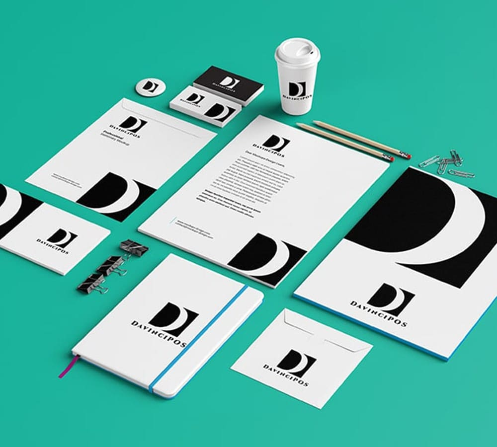 corporate identity, Black and white, services