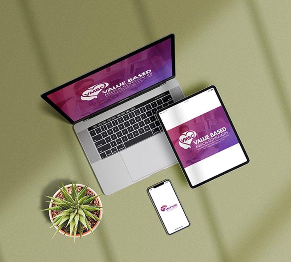 Logo design, Purple and white, Healthcare & Physician