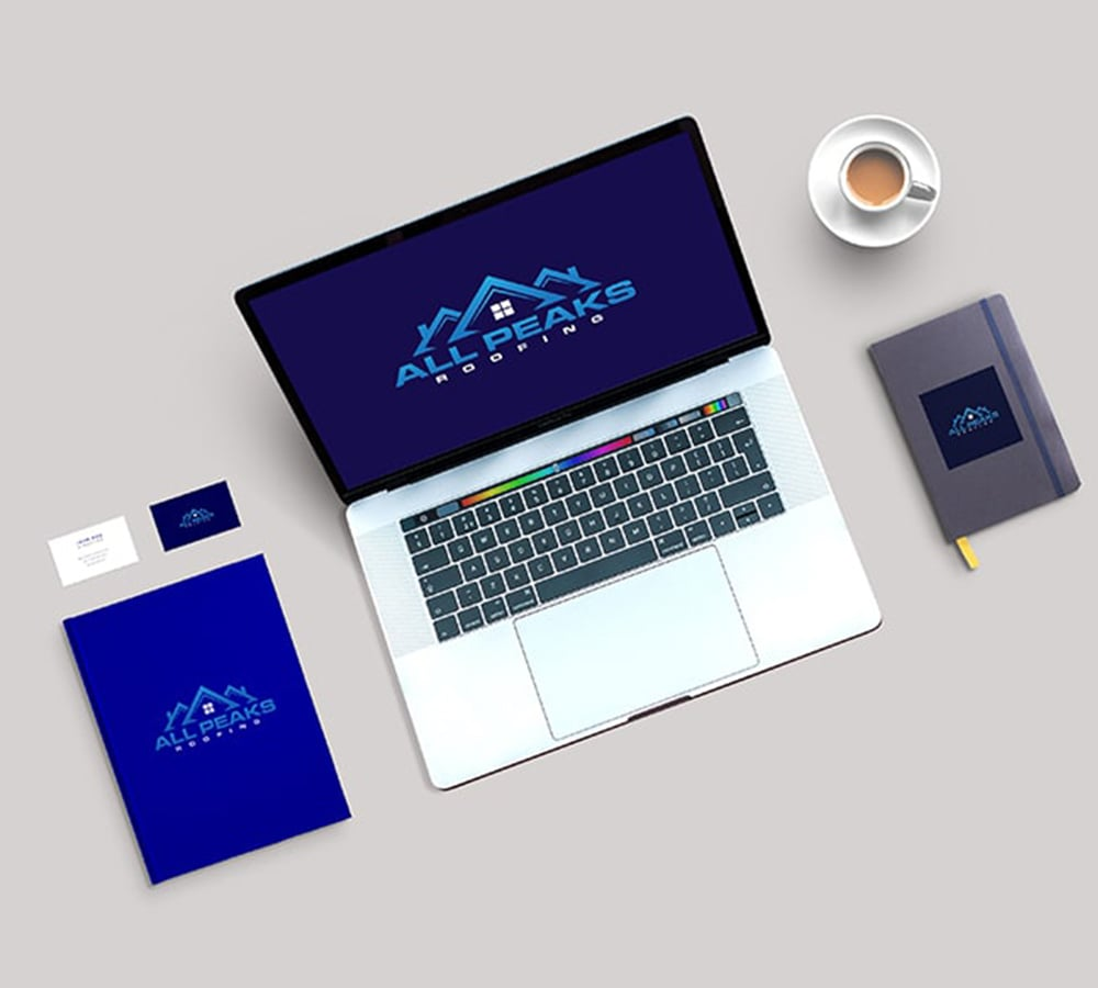 logo and branding, light blue and dark blue, Construction