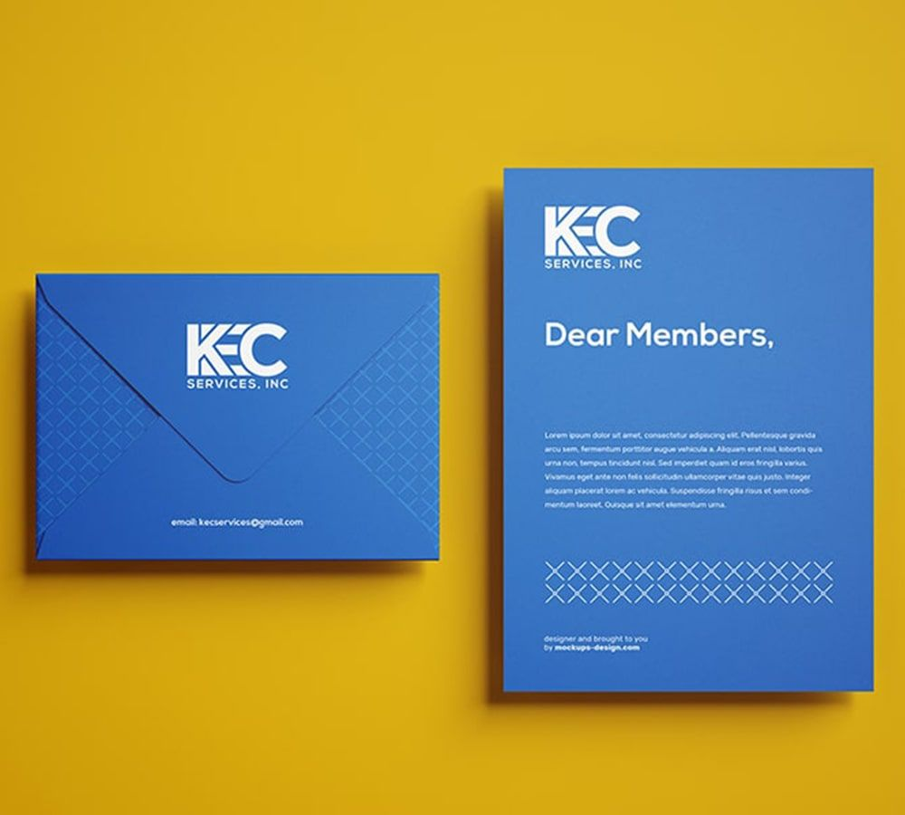 Envelope design, Blue and White, Construction