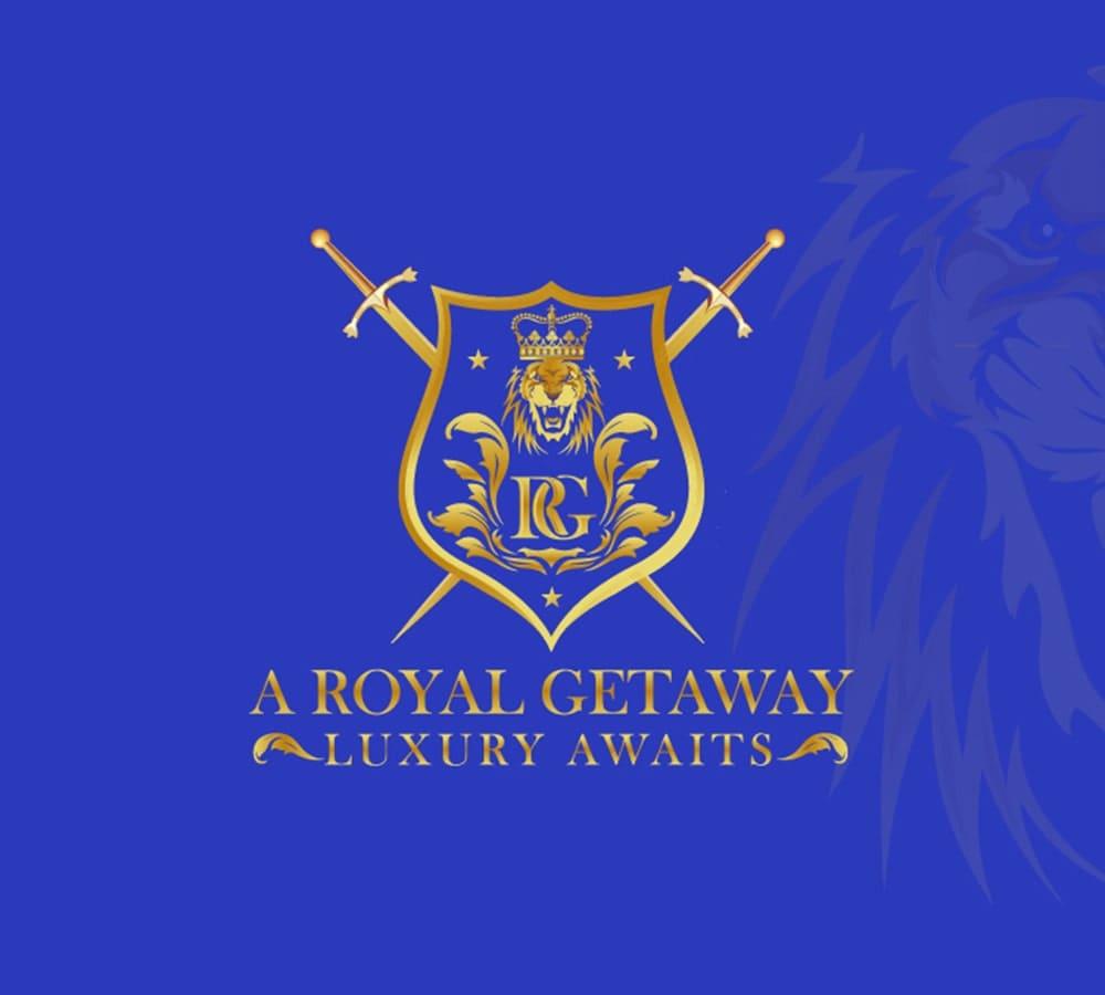 Emblem, Community & Foundation, Golden and Blue, fancy