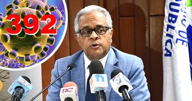 Salud Pública: Hay 392 casos de COVID-19 en el país y diez fallecimientos