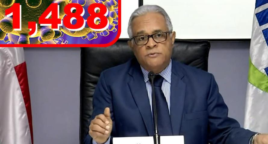 País registra 108 nuevos casos de COVID-19, suman 1 mil 488 y 68 muertes