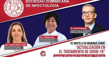 Sociedad Infectología invita a Webinar de actualización en tratamiento del COVID-19