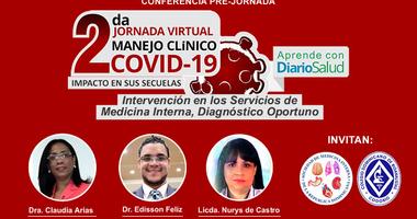 Continúa ciclo de conferencias pre-jornada de la 2da. Jornada Virtual Manejo Clínico del COVID-19