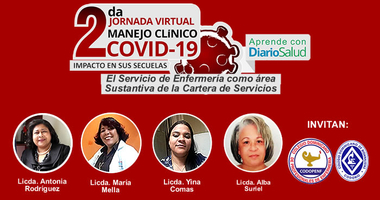 2da. Jornada de manejo Clínico de COVID-19 presentará  hoy  bloque de enfermería