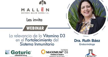 Webinar sobre la Relevancia de la Vitamina D3 en el Fortalecimiento del Sistema Inmunitario