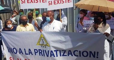 CMD protesta por regreso personal médico al hospital Luis Aybar (VIDEO)