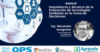 """Webinar """"Importancia y Alcance de la Evaluación de las Tecnologías Sanitarias"""""""